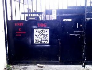 Entrada del hackerspace de Dublin, TOG