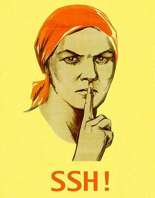 woman indicating ssh