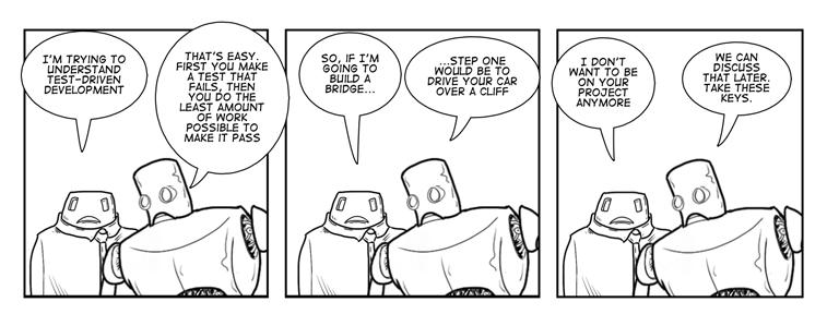 TDD comic stripe