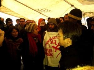 Kreuzberg District Mayor meeting at O-Platz