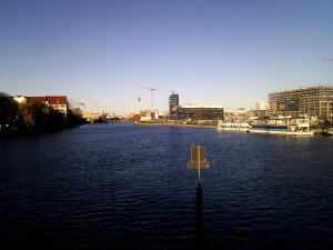 Sunny Berlin winter day