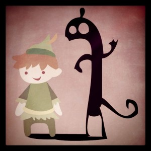 Illustration: Peter Pan and the shadow
