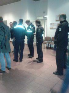 policemen inside